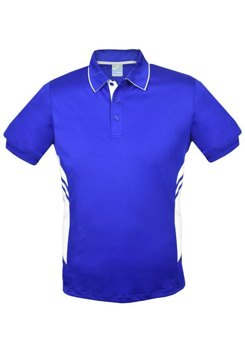 Aussie Pacific-Aussie Pacific Mens Tasman Polo (3rd 6 color)-S / Royal/White-Uniform Wholesalers - 5