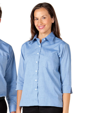 JB's Wear-Jb's Ladies 3/4 Sleeve Fine Chambray Shirt--Uniform Wholesalers - 3