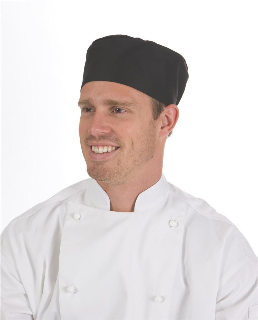 DNC Workwear-DNC Flat Top Chef Hat-0 / Black-Uniform Wholesalers - 1