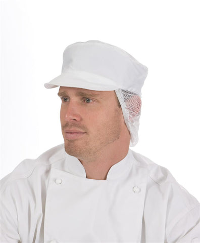 DNC Workwear-DNC Cap With Net Back-0 / White-Uniform Wholesalers