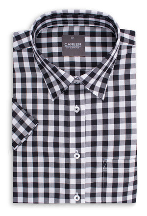 Gloweave Ladies Royal Oxford Short Sleeve Casual Slim Fit Shirt (1710WHS)