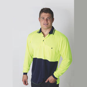 Sportage Hi Viz Adults/Unisex Micromesh Long Sleeve Polo (3366)