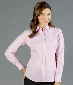 Gloweave Ladies Dobby Stripe Long Sleeve Shirt (1891WL)