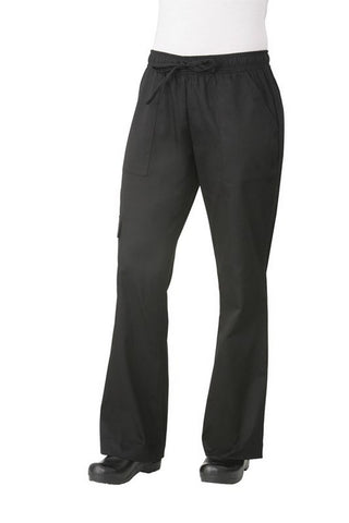 Chef Works-Chef Works Women's Cargo Chef Pant-XS / Black-Uniform Wholesalers - 1