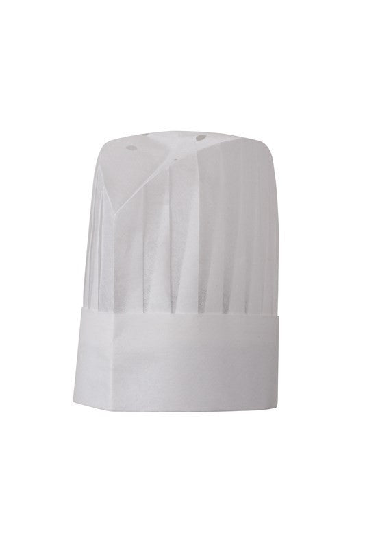 "Chef Works-Chef Works  Oval Top Pleated Chef Hat, 9""-23cm / White-Uniform Wholesalers"