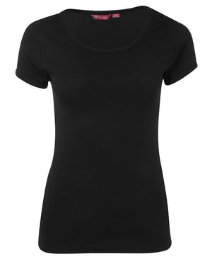 JB's Wear-JB's Ladies Scoop Neck Tee-Black / 8-Uniform Wholesalers - 2