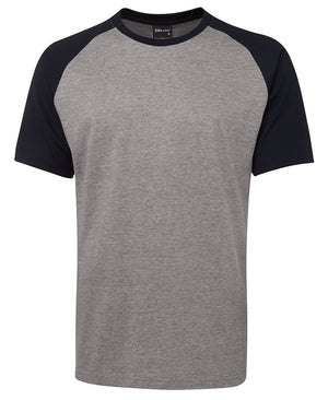 JB's Wear-JB's Two Tone Tee-Marle/Navy / S-Uniform Wholesalers - 2