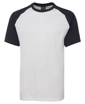 JB's Wear-JB's Two Tone Tee-White/Navy / S-Uniform Wholesalers - 3
