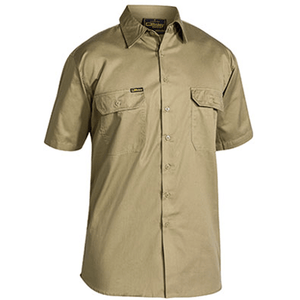 Bisley Cool Lightweight Drill Shirt - Short Sleeve (BS1893)