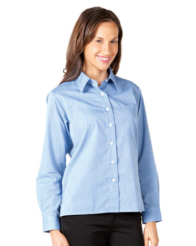 JB's Wear-JB's Ladies L/S Fine Chambray Shirt--Uniform Wholesalers - 1