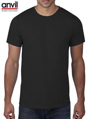 Anvil Black Tee 180gsm-(790)