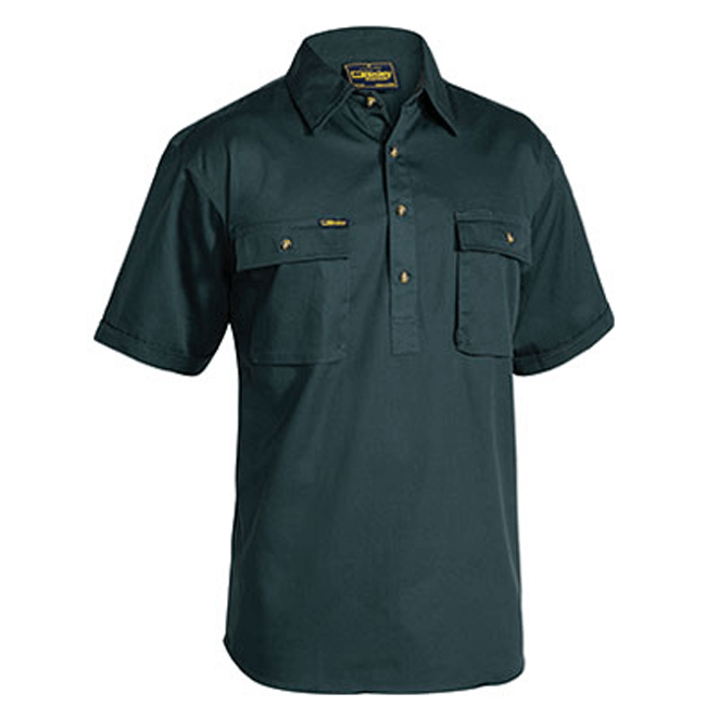 Bisley Closed Front Cotton Drill Shirt - Short Sleeve (BSC1433)