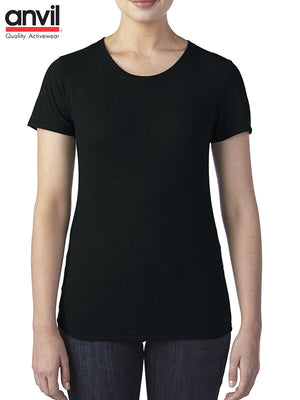 Anvil Ladies  SS Tri  Blend Tees  (6750L)