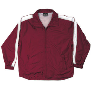 Bocini-Bocini Unisex Track-Suit Jacket-Burgundy/White / S-Uniform Wholesalers - 4