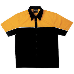 Bocini-Bocini Men's Motor Shirt-Black/Gold / S-Uniform Wholesalers - 2