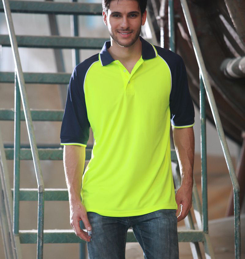 Bocini-Bocini Hi-Vis Raglan Sleeve Polo--Uniform Wholesalers - 3