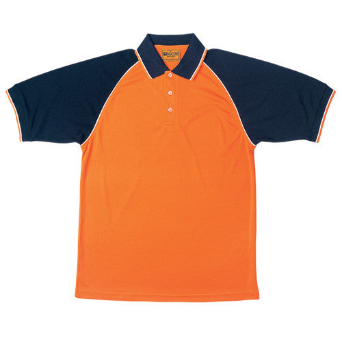 Bocini-Bocini Hi-Vis Raglan Sleeve Polo-Orange/Navy / S-Uniform Wholesalers - 1