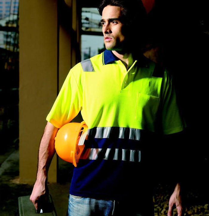 Bocini Hi-Vis Polyface/Cotton Back Polo (SP0539)