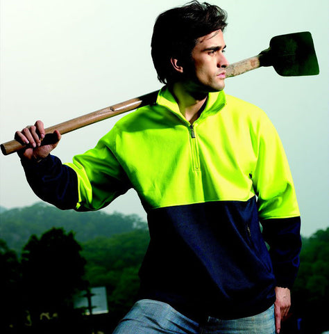 Bocini-Bocini Hi-Vis Half zip Fleece--Uniform Wholesalers - 1