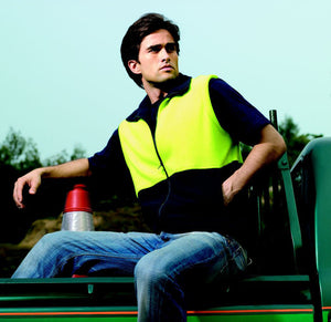 Bocini-Bocini Hi-Vis Polar Fleece Vest--Uniform Wholesalers - 1