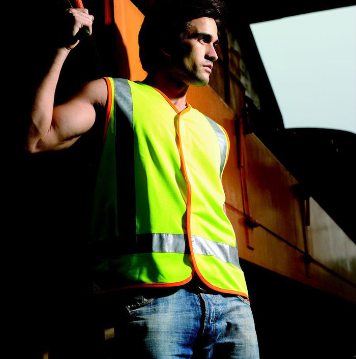 Bocini Hi-Vis Vest With Reflective Tape-(SJ0322)