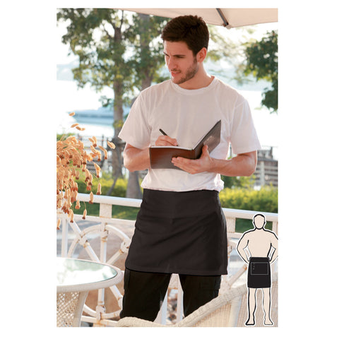 Bocini-Bocini Cotton Drill Quarter Apron With Pocket--Uniform Wholesalers - 1