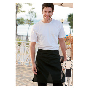 Bocini-Bocini Cotton Drill Half Apron No Pocket--Uniform Wholesalers - 1