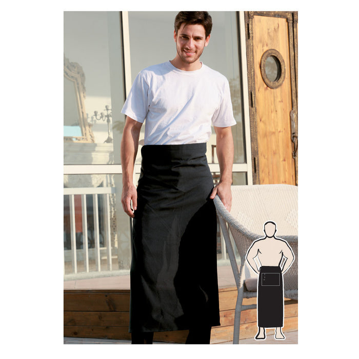 Bocini Continental  Apron With Pocket-(WA0393)