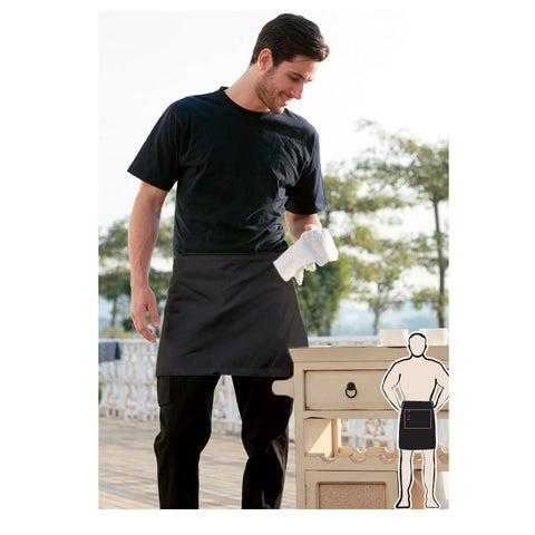 Bocini-Bocini Polyester Drill Quarter Apron No Pocket--Uniform Wholesalers - 1
