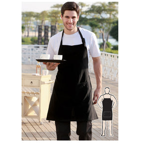 Bocini-Bocini Polyster Drill Full BIB Apron -No Pocket--Uniform Wholesalers - 1