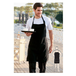 Bocini-Bocini Cotton Drill Full BiB Apron With  Pocket--Uniform Wholesalers - 1