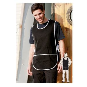 Bocini-Bocini Cotton Drill Popover Apron With Pocket--Uniform Wholesalers - 1
