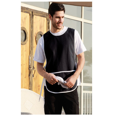 Bocini-Bocini Polyestaer Drill Popover Apron With Pocket--Uniform Wholesalers - 1