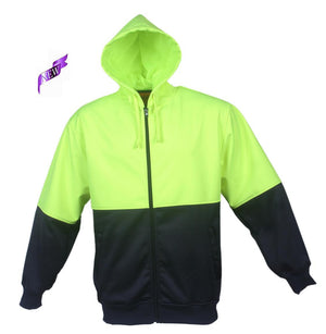 Bocini-Bocini Hi-Vis Fleece Jacket-Yellow/Navy / S-Uniform Wholesalers - 3