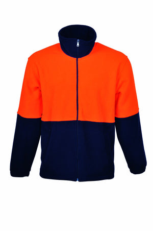 Bocini-Bocini Hi-Vis Polar Fleece Jacket Full Zip-Orange/Navy / XS-Uniform Wholesalers - 2