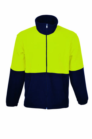 Bocini-Bocini Hi-Vis Polar Fleece Jacket Full Zip-Yellow/Navy / XS-Uniform Wholesalers - 3