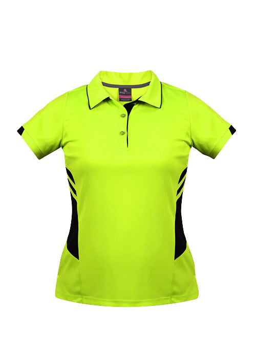 Aussie Pacific-Aussie Pacific Lady Tasman Polo( 2nd 8 colors)-4 / Neon Yellow/Black-Uniform Wholesalers - 5
