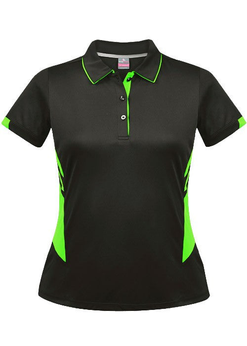 Aussie Pacific-Aussie Pacific Lady Tasman Polo( 2nd 8 colors)-4 / Slate/Neon Green-Uniform Wholesalers - 6