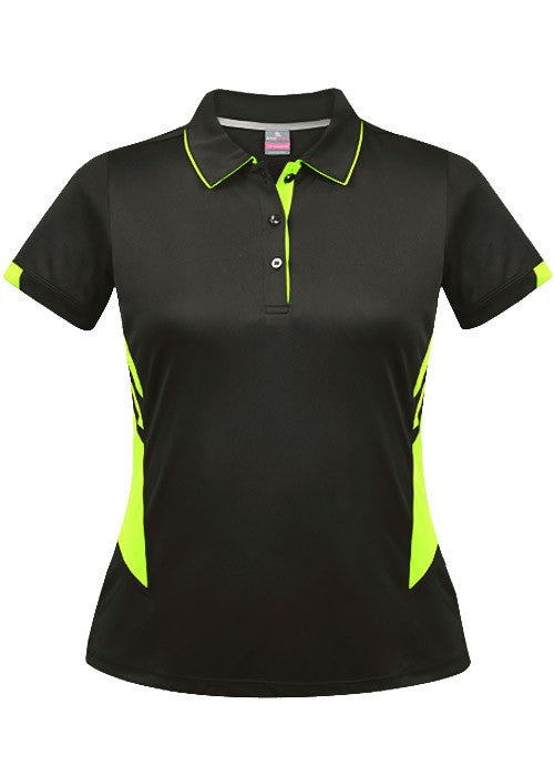 Aussie Pacific-Aussie Pacific Lady Tasman Polo( 2nd 8 colors)-4 / Slate/Neon Yellow-Uniform Wholesalers - 11