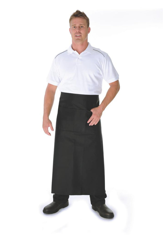 DNC Workwear-DNC Cotton Drill Continental Apron With Pocket-0 / Black-Uniform Wholesalers