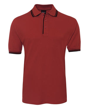 JB's Wear-Jb's Contrast Polo - Adults 2nd ( 11 Color )-Red/Navy / S-Uniform Wholesalers - 8