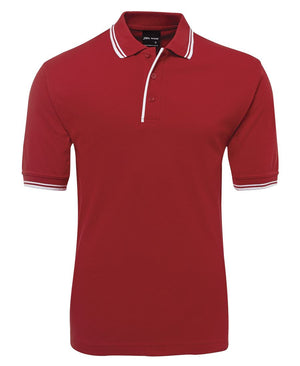 JB's Wear-Jb's Contrast Polo - Adults 2nd ( 11 Color )-Red/White / S-Uniform Wholesalers - 9