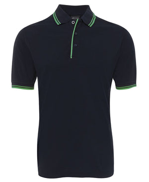JB's Wear-Jb's Contrast Polo - Adults 2nd ( 11 Color )-Navy/Green / S-Uniform Wholesalers - 4