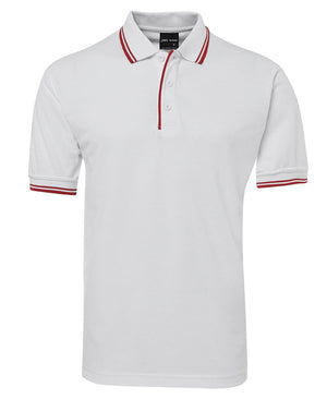 JB's Wear-Jb's Contrast Polo - Adults 2nd ( 11 Color )-White/Red / S-Uniform Wholesalers - 13