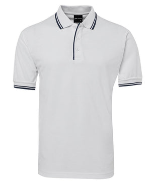 JB's Wear-Jb's Contrast Polo - Adults 2nd ( 11 Color )-White/Navy / S-Uniform Wholesalers - 12