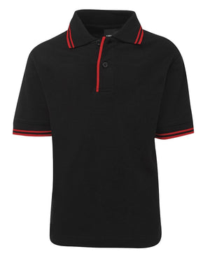 JB's Wear-JB's Kids Contrast Polo-Black/Red / 4-Uniform Wholesalers - 2