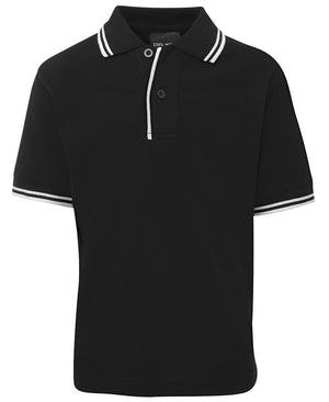 JB's Wear-JB's Kids Contrast Polo-Black/White / 4-Uniform Wholesalers - 3