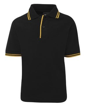 JB's Wear-JB's Kids Contrast Polo-Black/Gold / 4-Uniform Wholesalers - 4