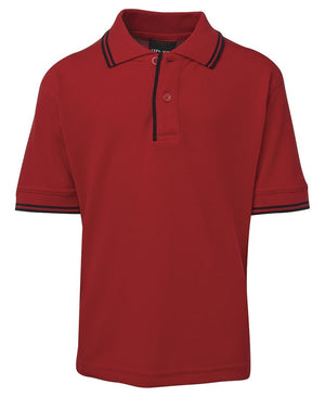JB's Wear-JB's Kids Contrast Polo-Red/Navy / 4-Uniform Wholesalers - 5