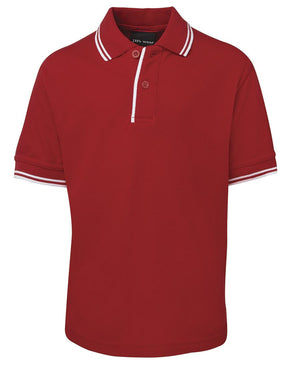 JB's Wear-JB's Kids Contrast Polo-Red/White / 4-Uniform Wholesalers - 6